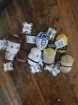 Lot Of 7 Star Wars Tsum Tsum plush toys Used Loose 3 Inch