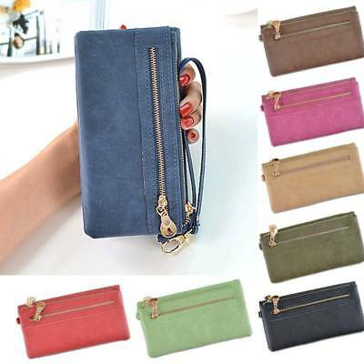 Lady Women Long Travel Wallet Zip Purse Card Phone Holder Case Clutch Handbag AU