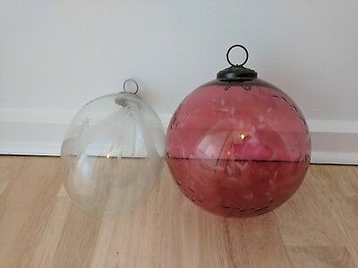 Beautiful over-sized glass baubles, perfect for Christmas decorations, very...