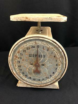 WAYRITE HANSON CO.Vintage House Hold Scale Capacity 25 Lbs Used Rustic Farm