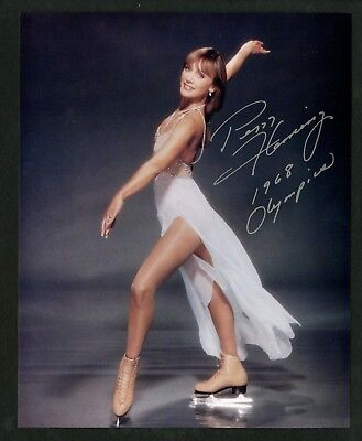 PEGGY FLEMING Figure Skating Gold Medalist Autographed Hand Signed 8 x 10 Photo