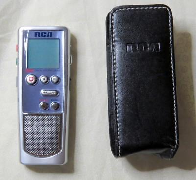 RCA Digital Voice Recorder 256MB Leather Carrying Case Belt Clip Model RP5036A