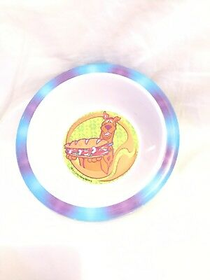 Vintage Scooby Doo Melamine Plate and Bowl Set by Zak Designs 2000
