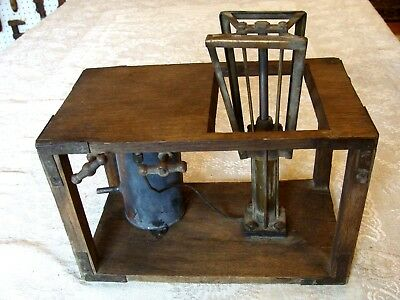 Antique Oak And Brass Scientific Lab Pneumatic Equipment Embalming ? Unknown