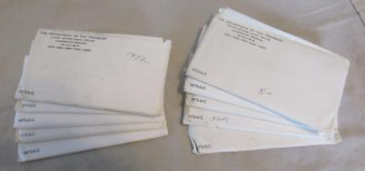 Pickers Delight of 10/Ten 1972 P&D U.S. Mint Sets In Envelopes of issue. #MF--