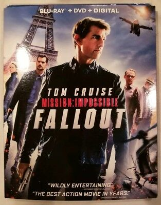 Mission:impossible Fallout(Blu-Ray+Dvd+Digital)W/slipcover