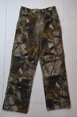 Wrangler Real Tree Camo Jeans Boy's Size 16 Regular Pants Hunting Denim RealTree