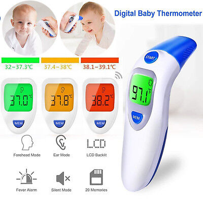 Digital Forehead Ear Thermometer Baby Kids Adult Fever Body Temperature Infrared