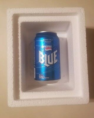 Pepsi Blue Can 12 oz UNOPENED - Collectible - refrigerated for years