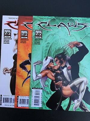 Complete Set Of Claws #1-3 Nm Wolverine & The Black Cat Marvel Limited Series