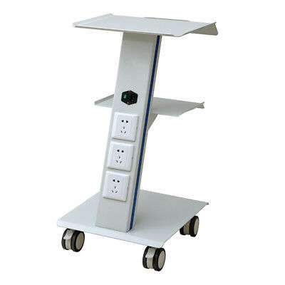 Portable Steel Medical Lab Trolley Dental 3 Three Layers Cart With Wheel Serving