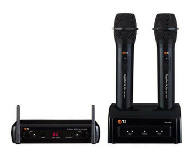 TJ Media DWS-5800 Wireless Microphone Home Party Portable Karaoke 2Mic - black