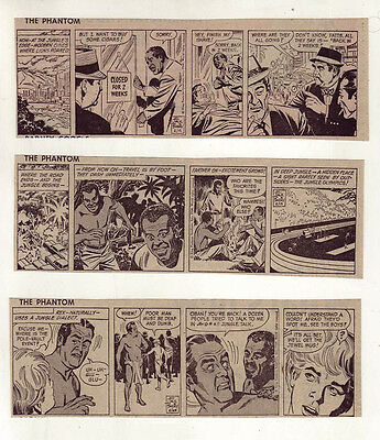 The Phantom by Lee Falk - 9 daily comic strips from February to April, 1968