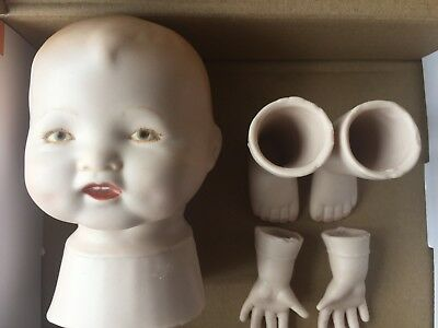 Ceramic Infant Baby Doll Parts