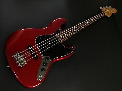 Fender Japan Jazz Bass JB62 '62 Vintage Reissue Candy Red 1999-2002 Excellent