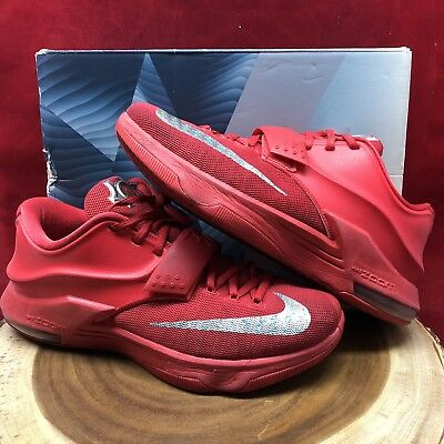 aec1339ee7f 2014 Nike KEVIN DURANT KD VII 7 GLOBAL GAME ACTION RED SILVER 653996-660 SZ