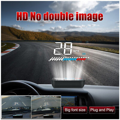 Universal HUD Head-Up Display OBD+GPS Dual System Car Speed Windshield Projector