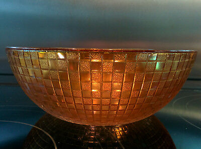 Vintage square (chequered) design Carnival glass bowl/dish