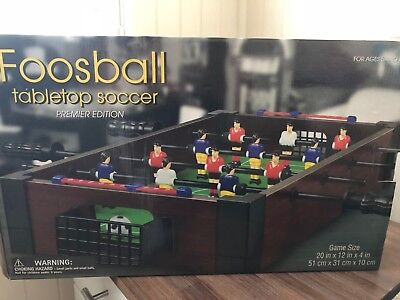 Foosball Tabletop Soccer Table Football Game Set - New in Box