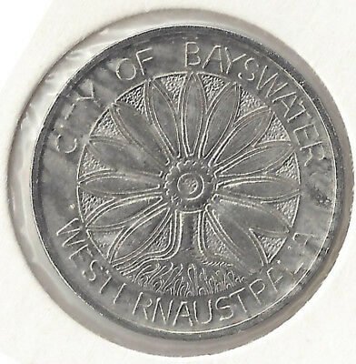 City of Bayswater Western Aust Admit One Child Pool Token Nickel 27 mm Approx