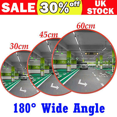 Curved Wide Angle Convex Mirror Outdoor Road Traffic Driveway Safety Security UK