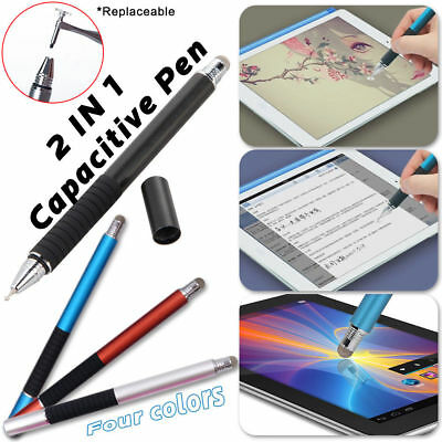 2 in 1 Touch Screen Pen Stylus Universal For PC Samsung Tablet Phone iPad iPhone