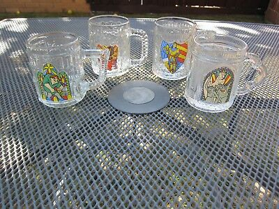 The Hunchback of Notre Dame Disney Promotional Glass Mugs