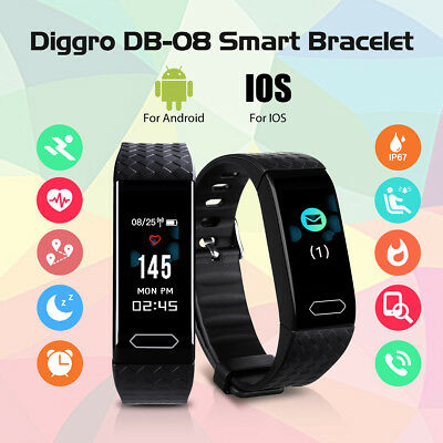 Bracelet connecté Montre Cardiofréquencemètre Fitness IP67 Android IOS Diggro