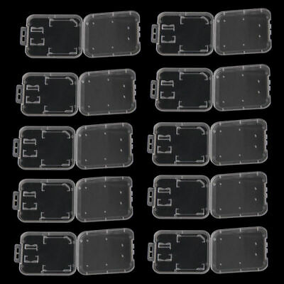 10Pcs Memory Card Holder SD TF MS SDHC Protection Box Stick Storage Clear Case