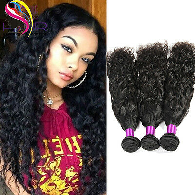 7A Brazilian Natural Curly Wave 100% Virgin Human Hair Extensions 100g/300g/400g
