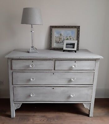 Shabby Chic Chest of Drawers Hand Painted Beautiful