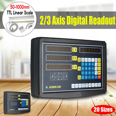 DRO 2/3 Axis Digital Readout Display Milling Lathe Machine Linear Scales Encoder