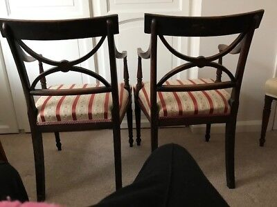 Antique carver dining chairs. Maybe Sheraton