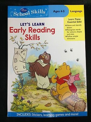Disney School Skills Early Reading Skills  Ages 4-5 Language Stickers Activities