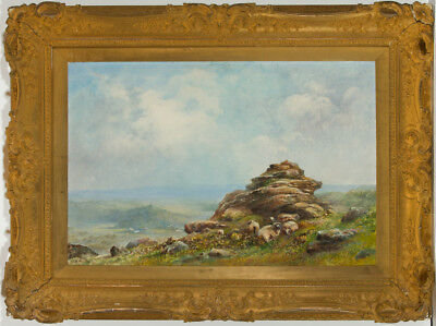 J.A. Moyle - Large Impressive Early 20th Century Oil, Dartmoor Landscape