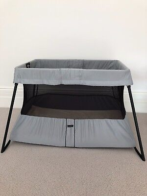 BabyBjorn Travel Cot - Good Used Condition, With Two Baby Bjorn Fitted Sheets
