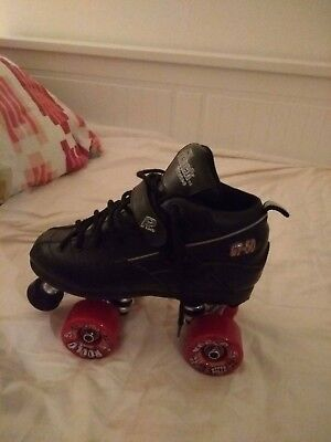 Sure grip GT 50 derby skates and phase eight pads size 5