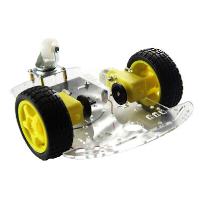 2 Wheel RC Smart Robot Car Chassis Kit w/ Speed Encoder TT Motor For Arduino