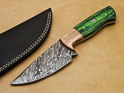 Rody Stan HAND MADE DAMASCUS STEEL FULL TANG KNIFE - OLIVE WOOD - SM-3561