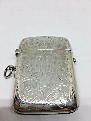 Quality Antique Silver Vesta Case