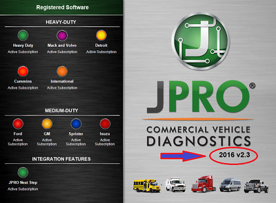 JPRO Commercial Fleet Diagnostics 2016 v2.3 Full Program Activated