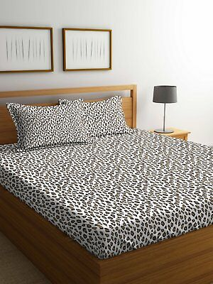 Animal Printed Fitted Sheet 144 Tc Super Queen Size Cotton Bed Sheet Bed Cover