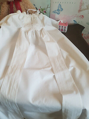Vintage Edwardian childs nightgown nightdress white linen Handmade  2-3 yrs