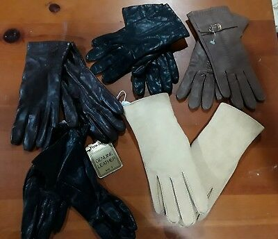 Vintage Womens Gloves - Lot Of 5 pair - Excellent Condition