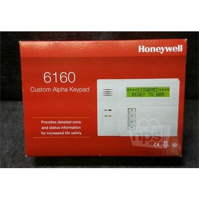 Honeywell 6160 Custom Alpha Keypad for VISTA Series Alarm Panels, White