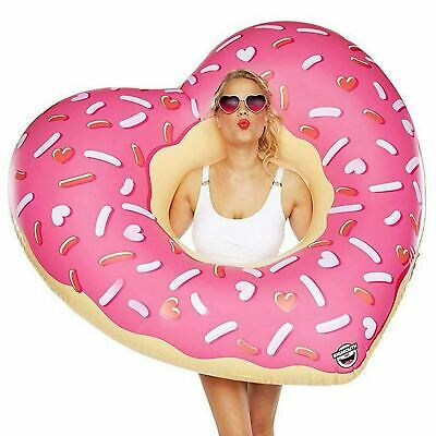 BigMouth Giant Inflatable Heart Ring Donut Pool Float Beach Swimming Lounger