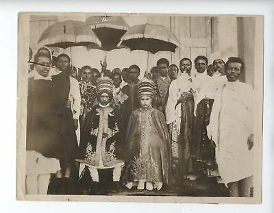 Original 1935 Ethiopia Haile Selassie Gugsa Marriage Photo Shoa Fascist Italy !!
