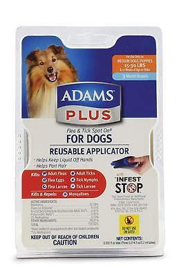 ADAMS PLUS FLEA AND TICK SPOT ON FOR DOGS 15-30 LBS 3 MONTH SUPPLY with Applicat