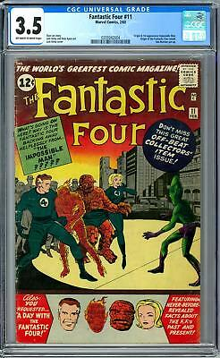 Fantastic Four #11 CGC 3.5 (OW-W) 1st Impossible Man