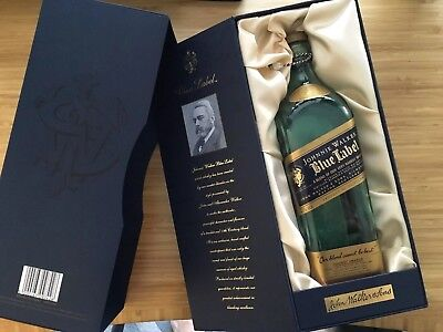 Johnny Walker Blue Label 750 mm EMPTY Bottle With Medallion & Gift Box